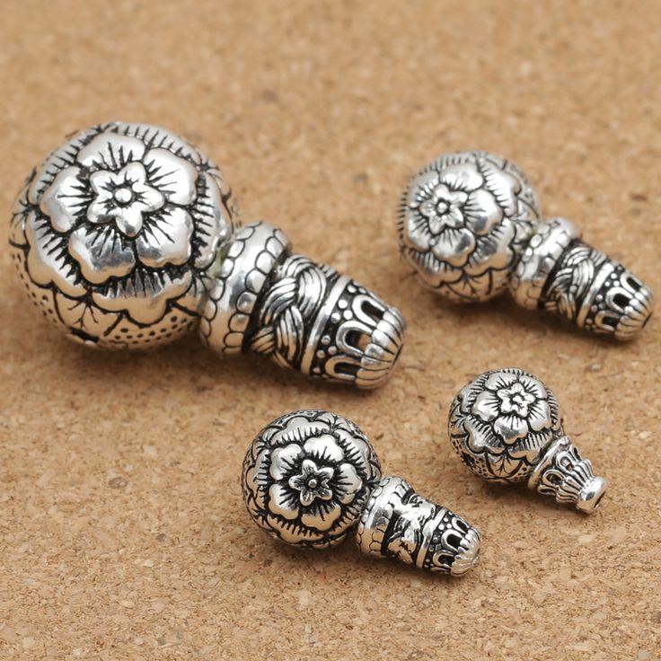 Cheap beaded scarf knitting patterns, Buy Quality bead charm directly from China beading desk Suppliers: Handmade 925 Silver Flower Guru Bead Tibetan Mala's Guru Buddhist Prayer Beads Guru Bead