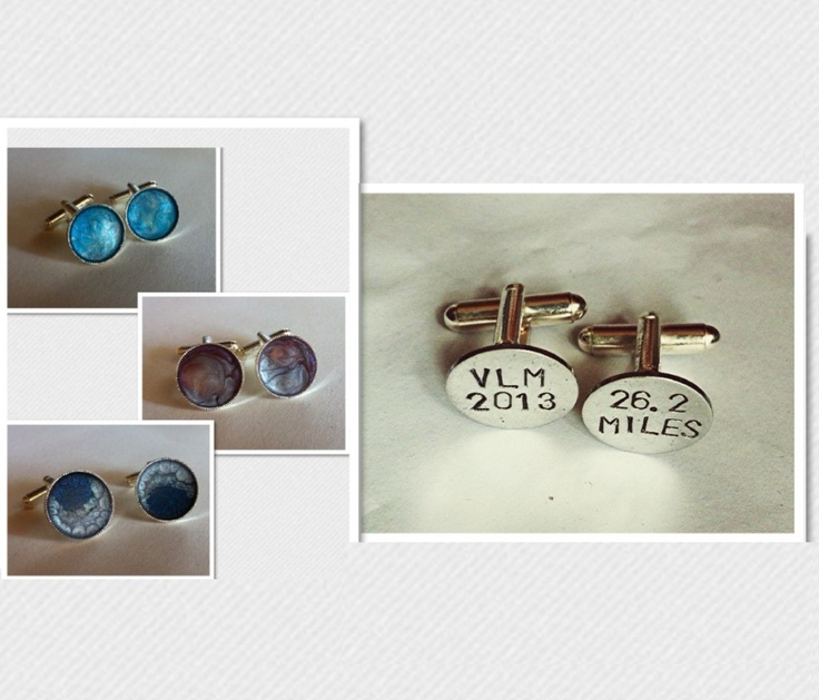 Personalised Mens Cufflinks, painted or engraved £10 available to buy along with other amazing items at the Supermums Craft Fair #supermumscraftfair @supermumscf #jewellery #men #gift #forsale #giftidea #accessories #fashion #jewelry #craft #design