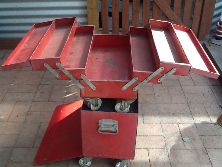 Large RED Rota Tool BOX ON Wheels in VIC | eBay