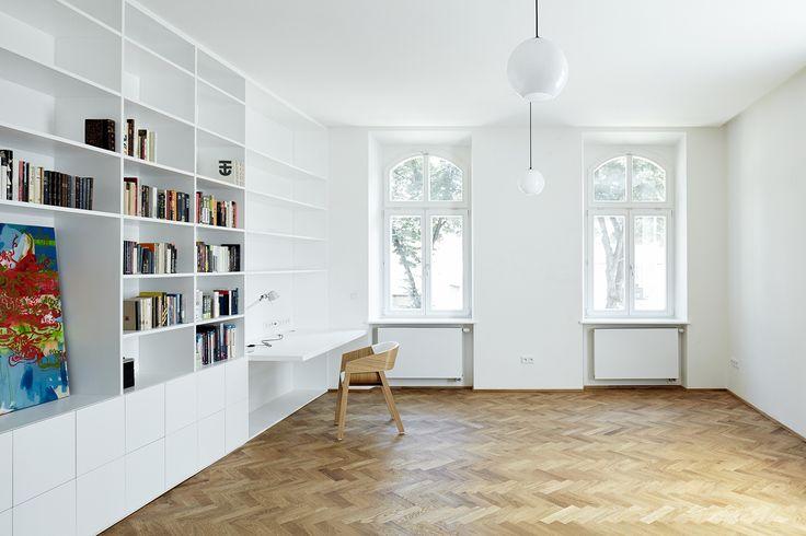 Henkai Architekti, rekonstrukce bytu s knihovnou v Opavě, foto © BoysPlayNice