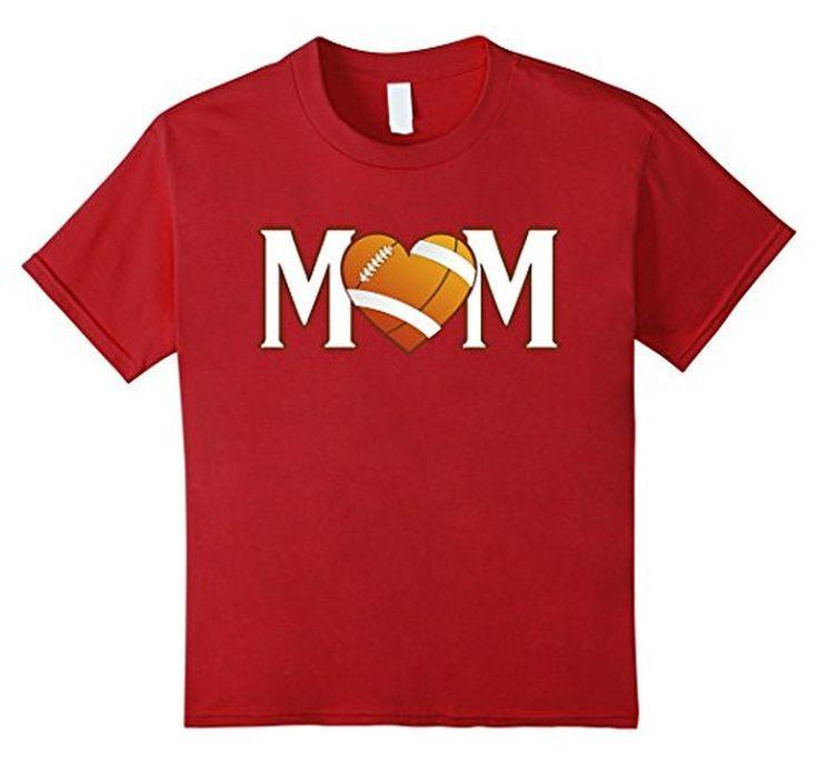 Women's Mom Heart Love American Football Women T-Shirt