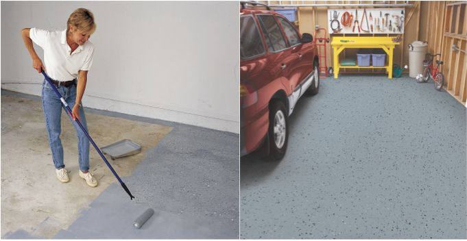 One roller, one kit, one fabulous looking garage. Oh yes you can with Epoxy Shield Garage Floor Coating EasierThan It Looks Rust-Oleum Masters