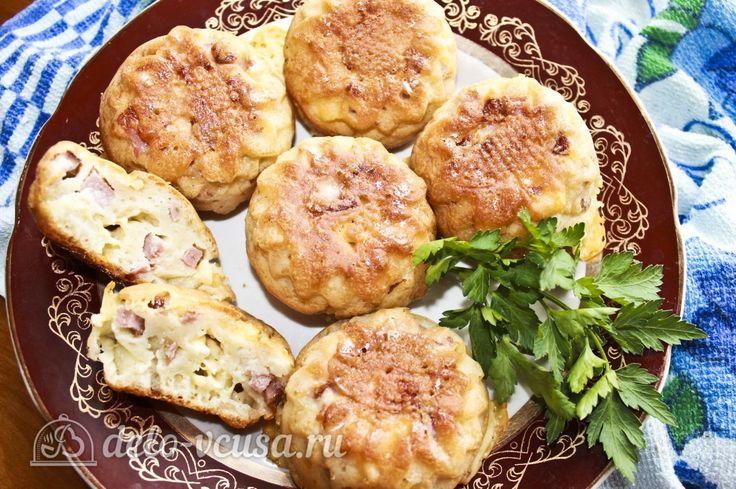Кексы с колбасой #кексы #мясо #колбаса #рецепты #деловкуса #готовимсделовкуса