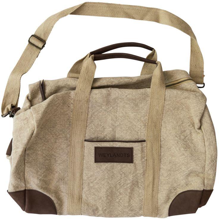 Natural Duffle Bag #weylandts #entertaining