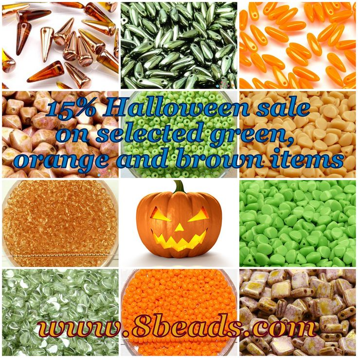 Save 15% on selected #green, #orange and #brown items until Oct. 31 http://8beads.com/en_products-by-colours-c-39.html