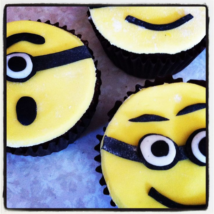 Minion Cupcakes made for my lil mans 4th birthday party. These were put in the party boxes (party bags)