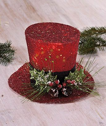 Lighted Holiday Top Hat