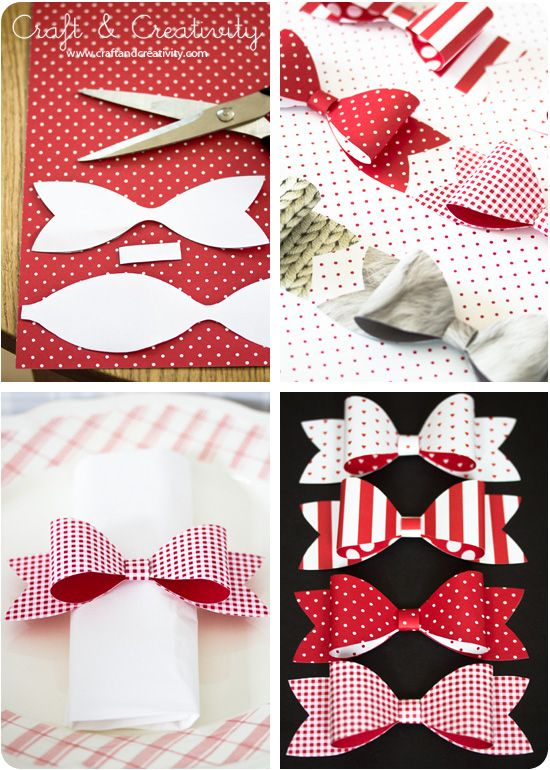 Pappersrosetter / Paper bows - by Craft & Creativity
