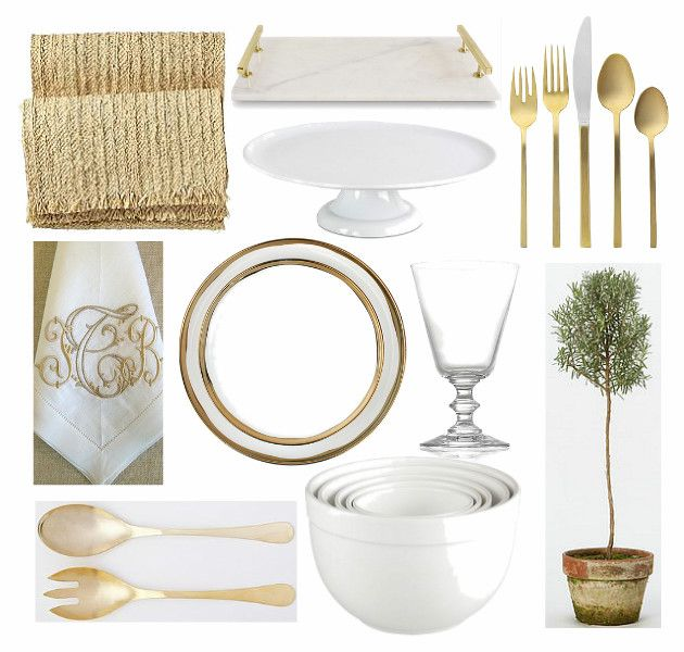 White Gold Thanksgiving Table Bungalow Blue Interiors