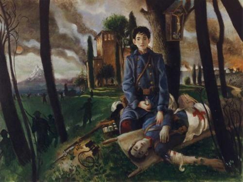 "David Mellon artwork called ""Battle""."