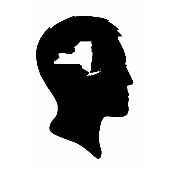 A New York State of Mind Silhouette Print Male by astateofmind, $19.99
