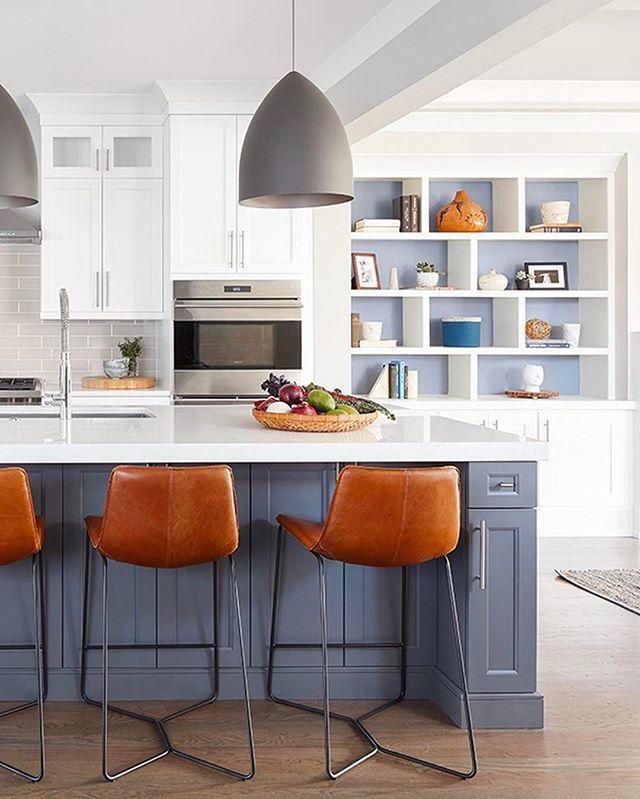 Grey Kitchen Island, Gray And White Kitchen And Grey