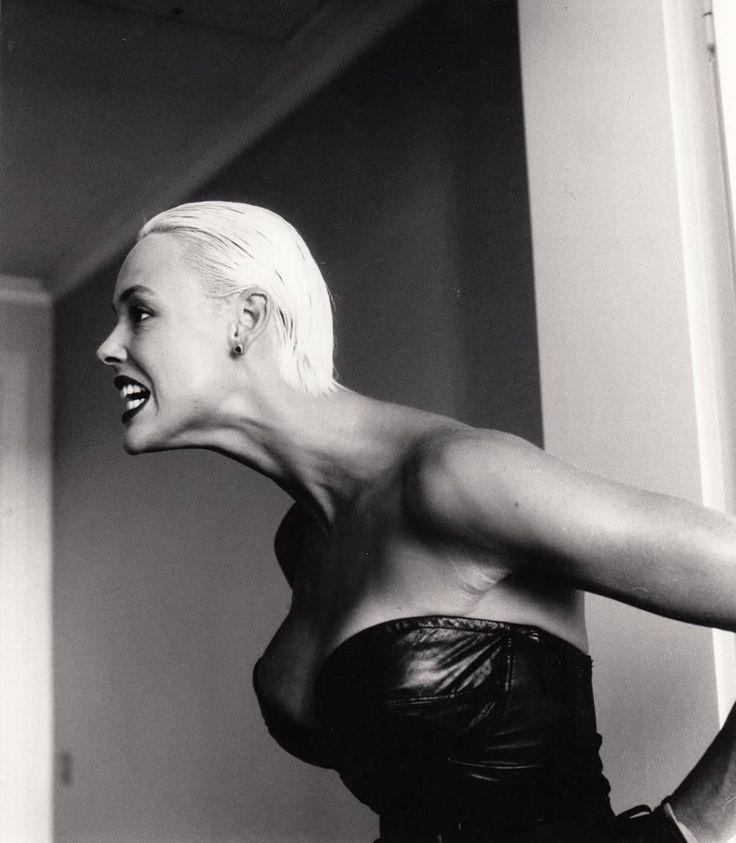 Brigitte Nielsen, Monte Carlo, 1987 | From a unique collection of black and white photography at https://www.1stdibs.com/art/photography/black-white-photography/