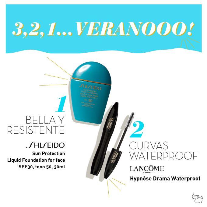 ¿Quieres tener el el maquillaje perfecto incluso en la playa o piscina? Prueba la base de maquillaje con factor de protección solar SPF30 de Shiseido Sun Protection Liquid Foundation for face >http://bit.ly/1piDRrJ, y complementa con la máscara de pestañas Hypnôse Drama Waterproof de Lancôme >http://bit.ly/1qvkakc, resistente al agua. #SunCare #Shiseido #MakeUp
