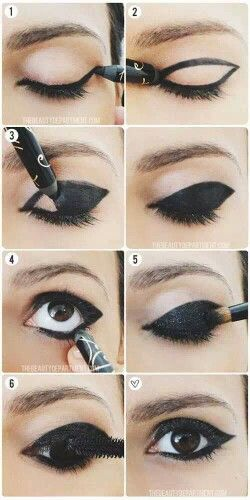"Black eye makeup how to.  Whenever I try this I inevitably end up looking like the crazy ""smoky eye"" mom in that GoGurt commercial :/"