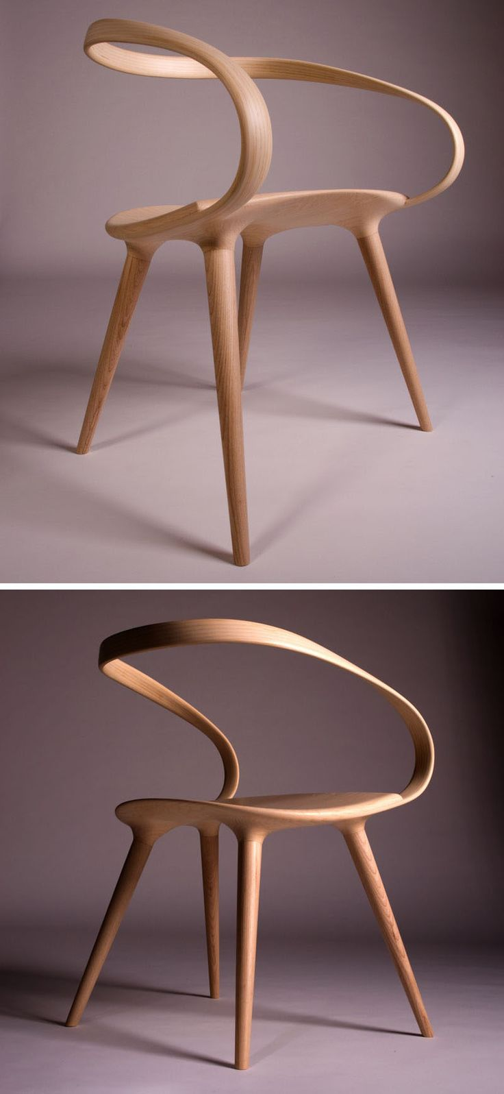 best wood chair design ideas on pinterest  chair design  - the velo chair uses a single piece of bent wood as the backrest whenbritish designer jan waterston was creating the velo chair his inspirationcame from