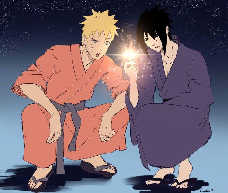 Look at Sasuke's confused face then look at naruto's it's hilarious the difference is!