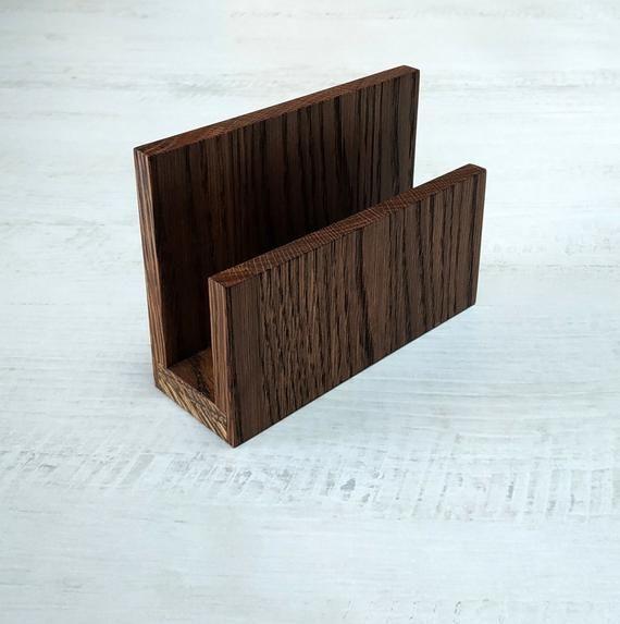Letter Holder, Mail Holder, Napkin Holder, Oak Wood Holder, Desk Accessories of Oak Wood