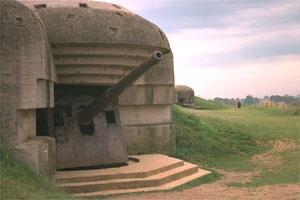 Canhões de Retenção Desembarque Tropas Aliadas - Praia da Normandia.