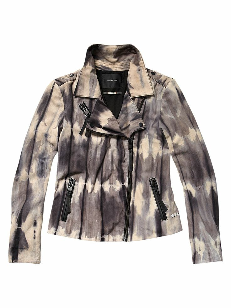 MAISON SCOTCH Tye dye suede jacket