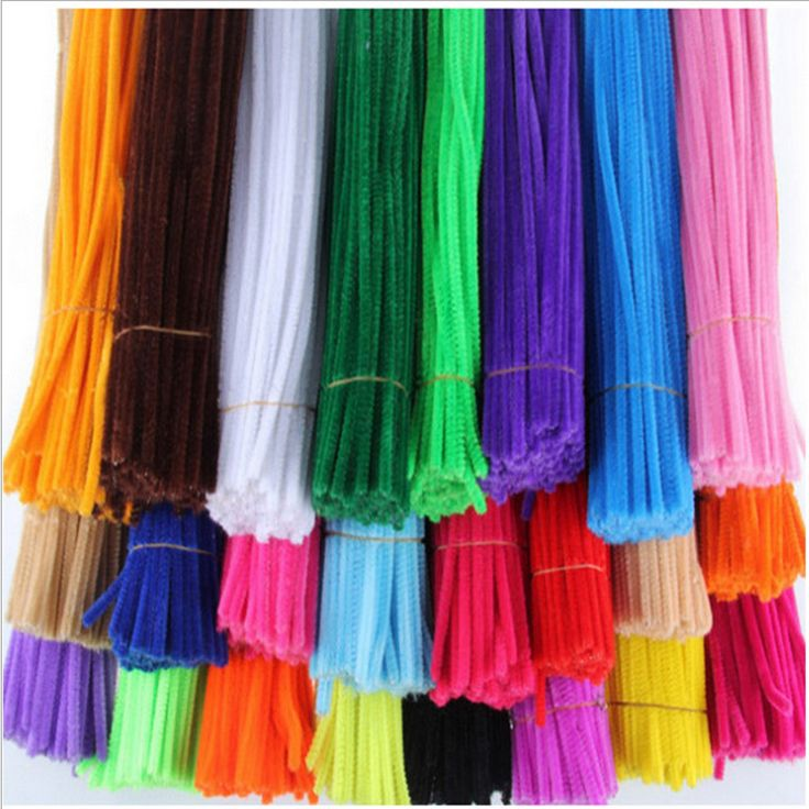 1packs (100pcs) Multicolour Chenille Stems Pipe Cleaners Handmade Diy Art &Craft Material kids Creativity handicraft toys
