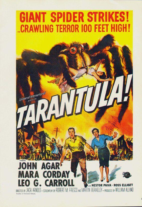 Tarantula Giant Monster Spider 1950s Sci Fi Horror Movie Poster Full