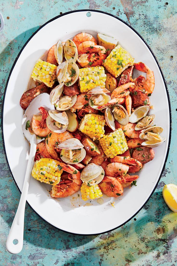 Grilled Clambake Foil Packets with Herb Butter Recipe