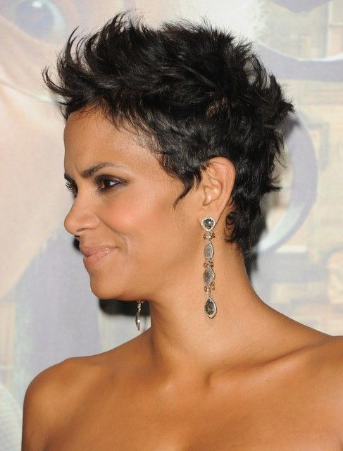 Halle Berry Black Cropped Pixie Haircuts - Halle Berry Hairstyles