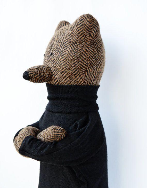 Evan The Bear. Primitive teddy Bear. Child by PhilomenaKloss