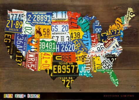 Best License Plates Bottle Caps Cans Signs Etc Images On - Us map of license plates