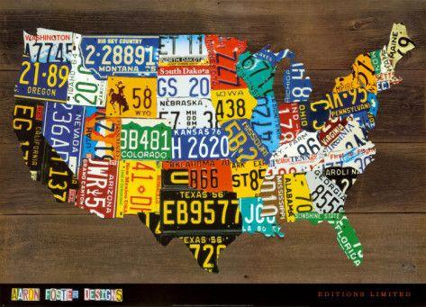 CUTE!!!: Idea, Licenseplates, License Plates, Usa Maps, Room