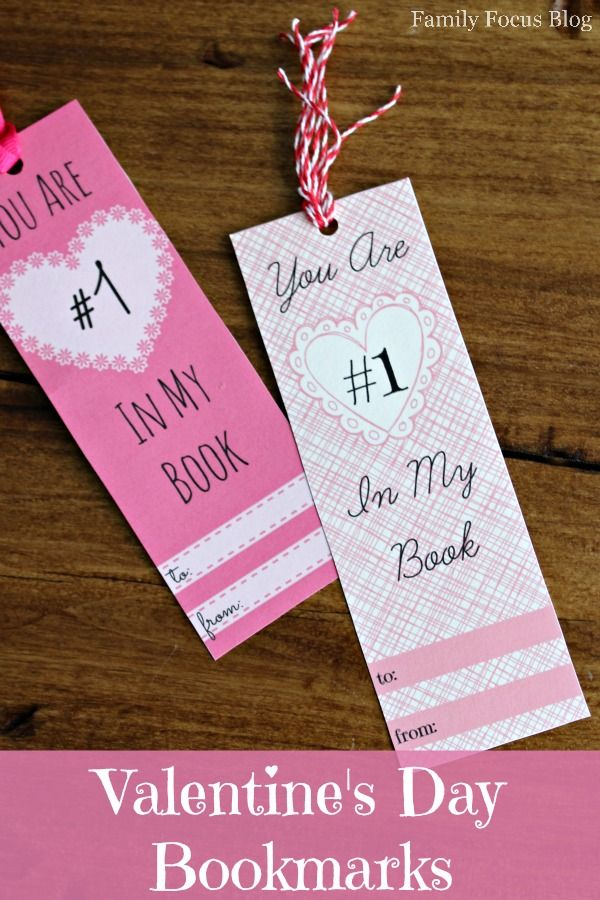 A special Valentine for the classroom exchange that isn't candy- 3 free printable Valentine's Day bookmarks.  Cheap non-candy Valentines Day ideas.  Valentine card alternative.
