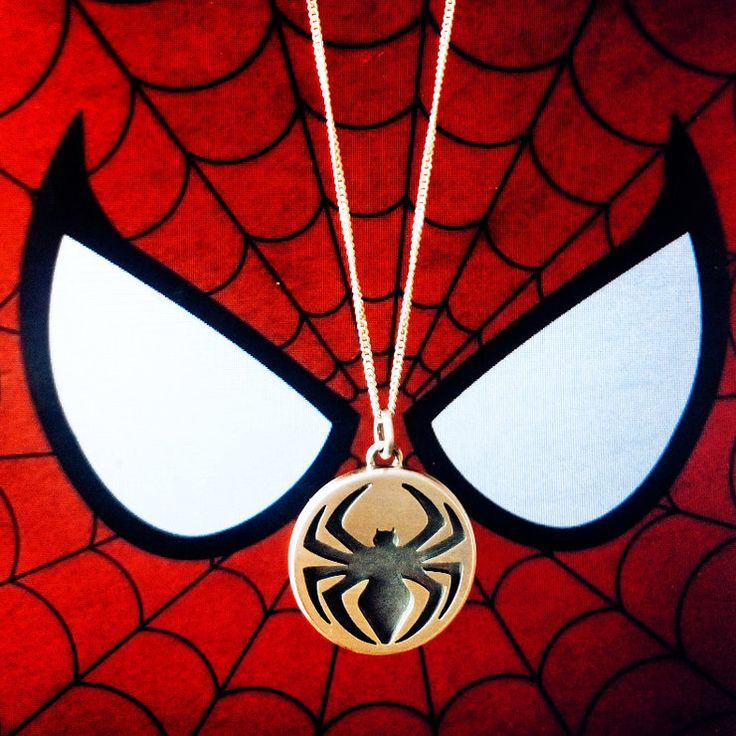 a tribute to ol' web head himself in Sterling Silver on a 55cm Stering Silver chain.