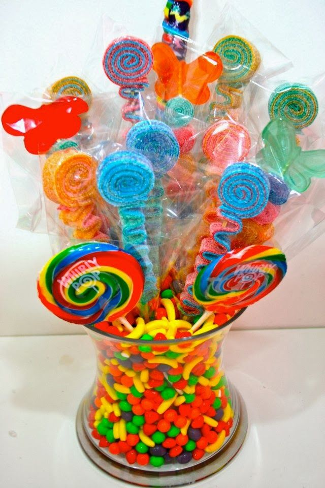 Candy centerpieces for sweet land wonka
