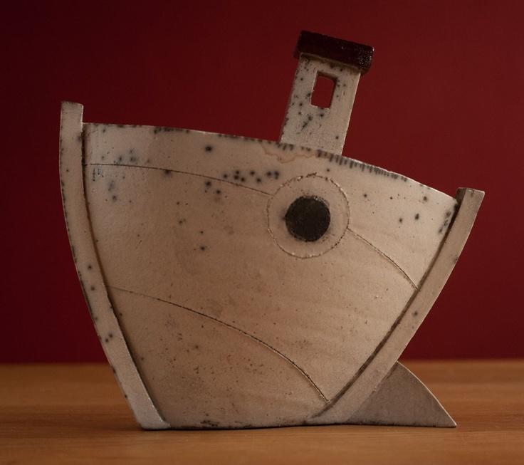 superb #raku pottery boat by Rob Whelpton | Pottery, Porcelain & Glass:Pottery:Studio | JPEGbay.com