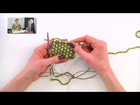 Knitting Help - Two Color Knitting Tricks - YouTube