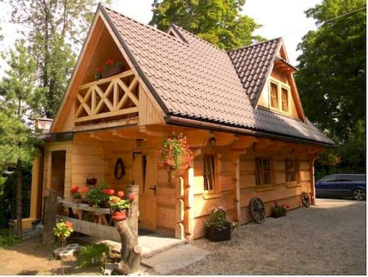 70 Fantastic Small Log Cabin Homes Design Ideas (17