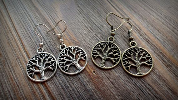 Mini Tree of Life  Amity/Divergent Earrings by EbeAndAsh on Etsy, $6.99
