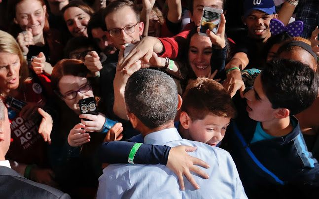 Barack Obama's approval rating nears record high as election day looms