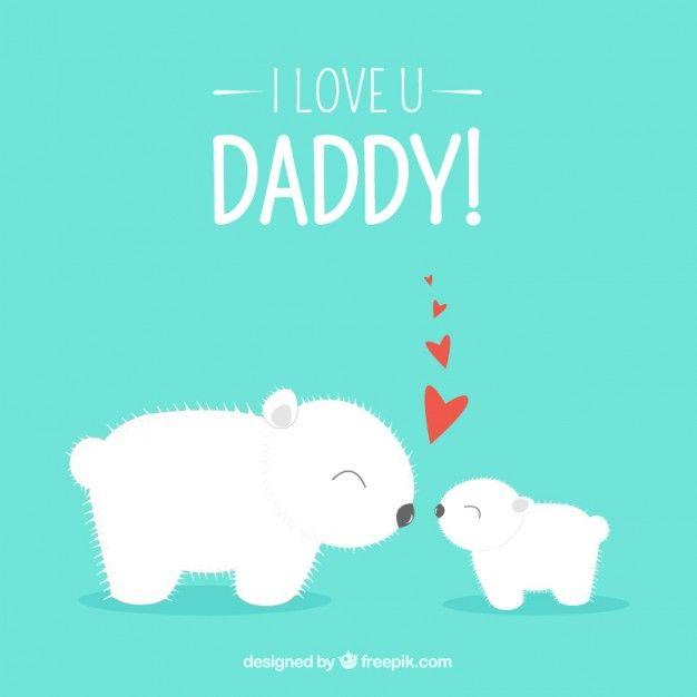 tarjeta-del-dia-del-padre-con-los-osos-polares_23-2147512142.jpg (626×626)