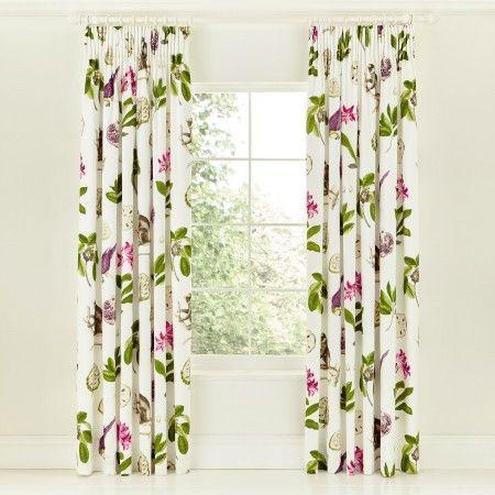 "Sanderson 66"" x 72"" Curtains, Berry"