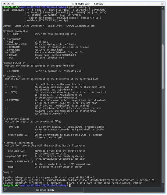 SMBMap - Samba Share Enumeration Tool