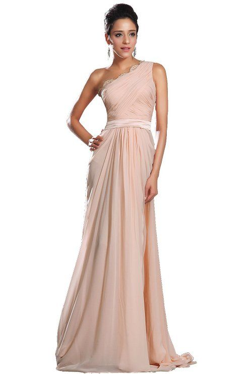 eDressit New Pink One Shoulder Evening Dress (00131501): Amazon Fashion
