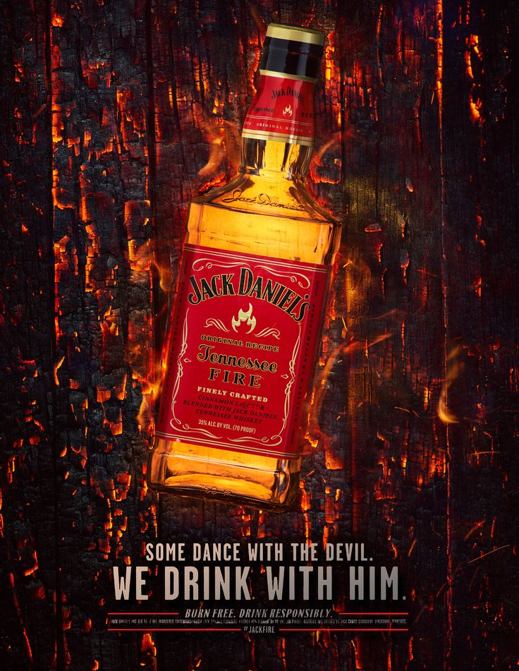 Photo by Harry Fellows.  This is an advertisement for the Jack Daniels Fire label. Shot in 2014 with Taylor James.