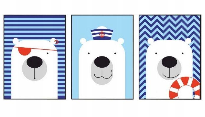 Plakaty A4 Dla Dzieci Misie Marynarskie Kids Rugs Kids Snoopy