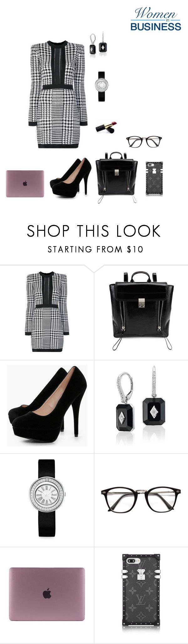 """MONDAY WORK OUTFIT"" by rebeccadavisblogger on Polyvore featuring Balmain, 3.1 Phillip Lim, Boohoo and Piaget"