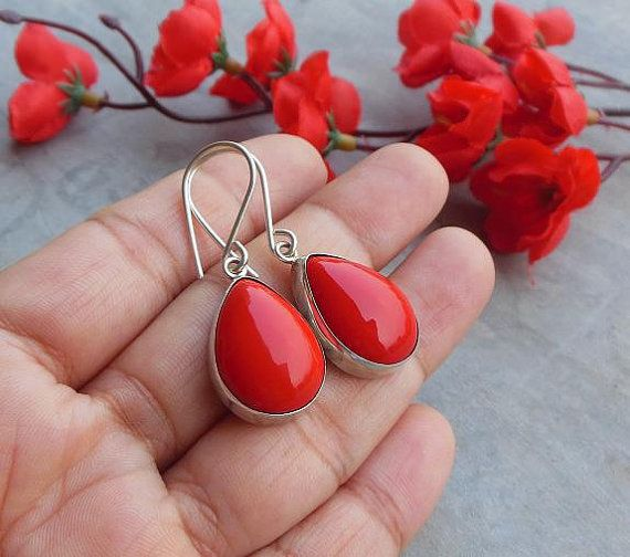 Hey, I found this really awesome Etsy listing at https://www.etsy.com/listing/111538036/red-coral-earrings-artisan-earrings-tear