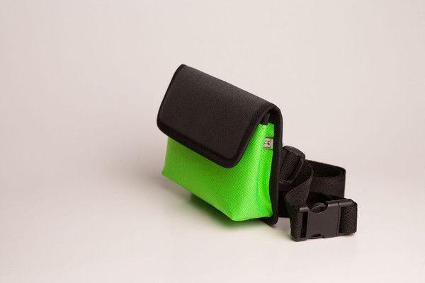 Borsetă, Gri Antracit/Verde Neon