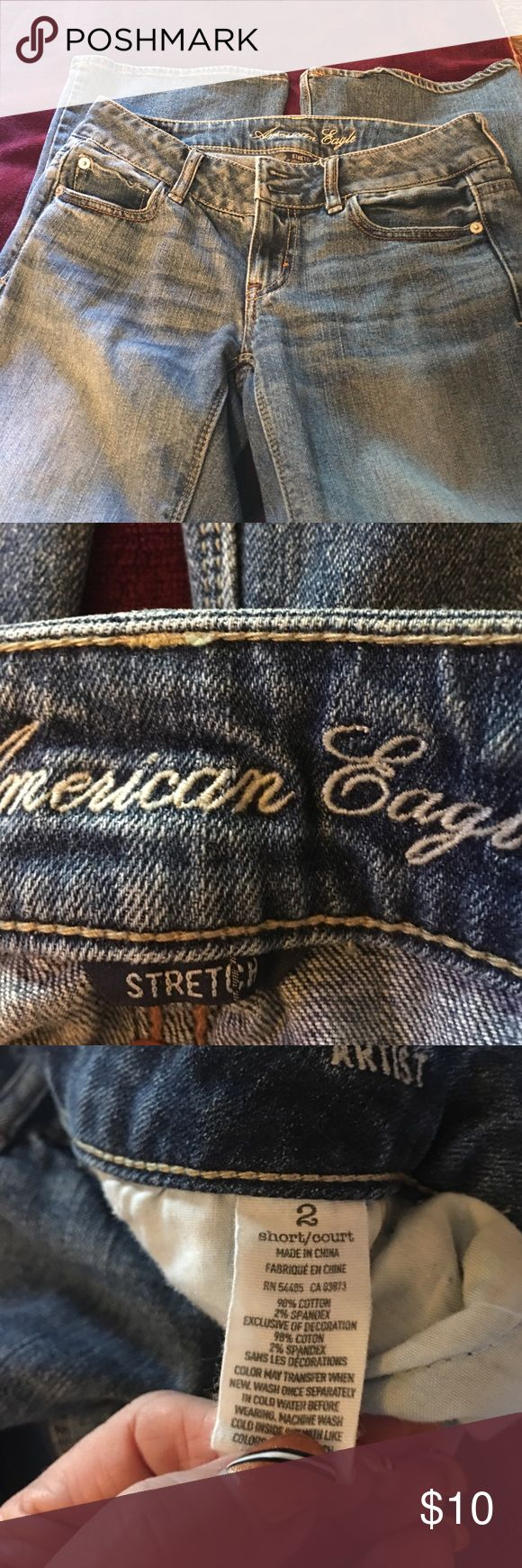 America eagle jeans size2 Size2 wide leg American eagle jeans   Please see pics for details American Eagle Outfitters Jeans Flare & Wide Leg