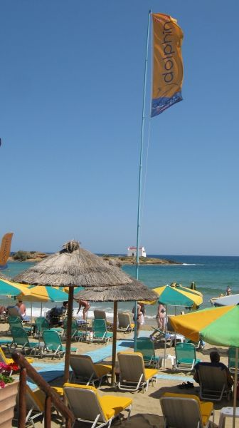 Umbrellas at Malia Beach